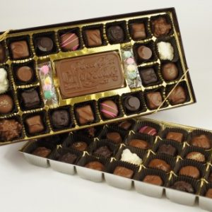 Clear Top 52 Piece Assorted Chocolates with Bar & Mints
