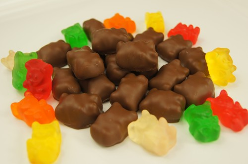 Gummy Bears Covered in Chocolate