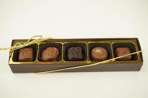 5 Piece Assorted Chocolates.
