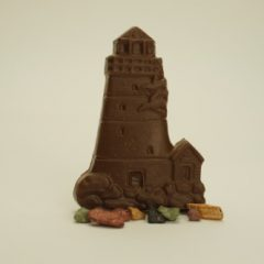Chocolate Lighthouse with Rocks