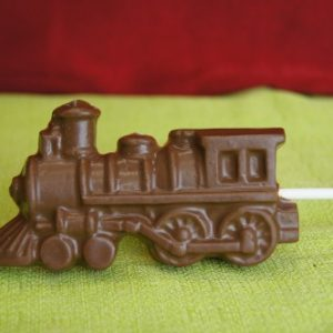 Milk chocolate train