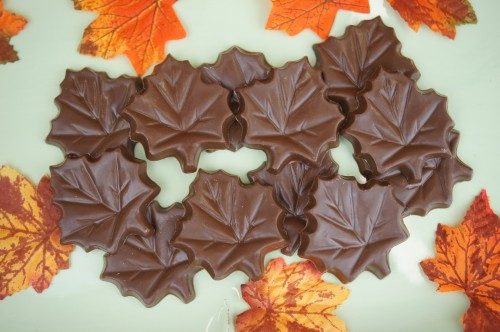 Milk Chocolate Leaves