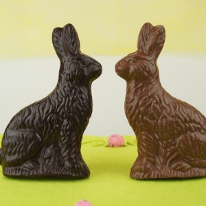 Flat Chocolate Bunnies