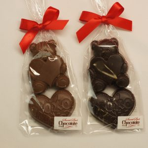 Chocolate Bear with Hugs & Kisses Heart