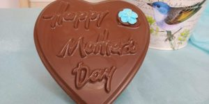 Large Heart Shape with Flower Happy Mother's Day Chocolate