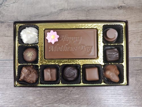 9 Piece Assorted Chocolates with Happy Mother's Day Bar