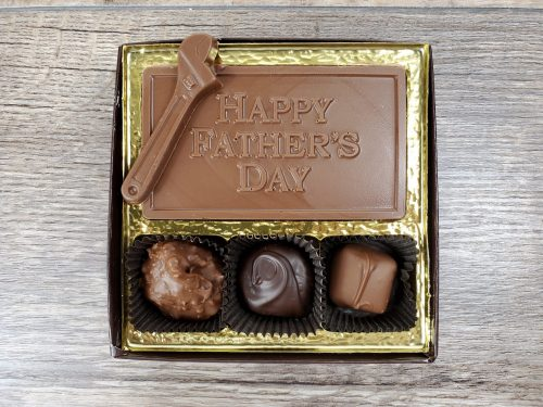 3 piece Assorted Chocolates with Happy Father's Day Bar