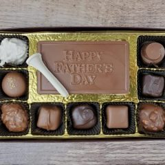 9 pc assorted Chocolates with Happy Father's Day Bar
