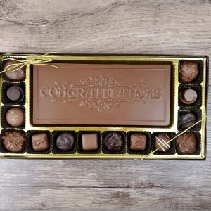 14 piece Assorted Chocolates with Congratulations Bar