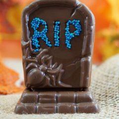 Sweet Spot Chocolate Shop RIP Milk Chocolate Tombstone