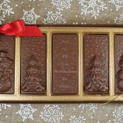 Sweet Spot Chocolate Shop Clear Top Christmas Scene Box